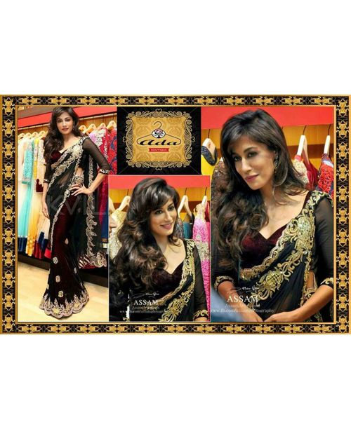 Glamourous Chitrangada Black Replica Saree
