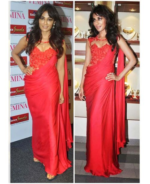 Chitrangada Red Replica Saree