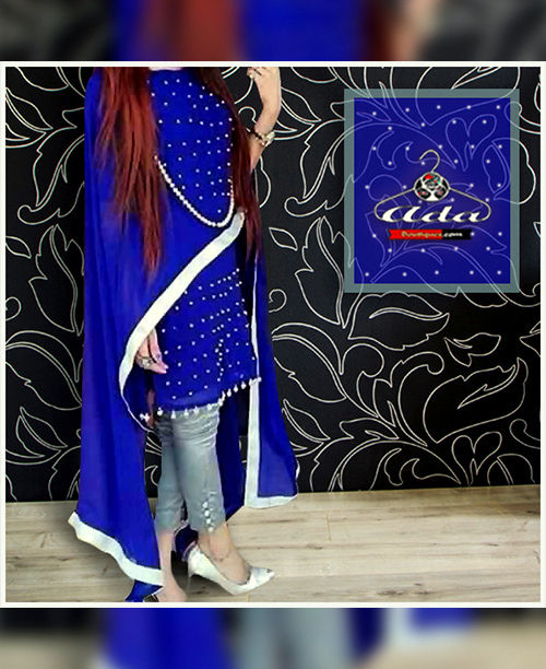 Blue Silver Butta Dress