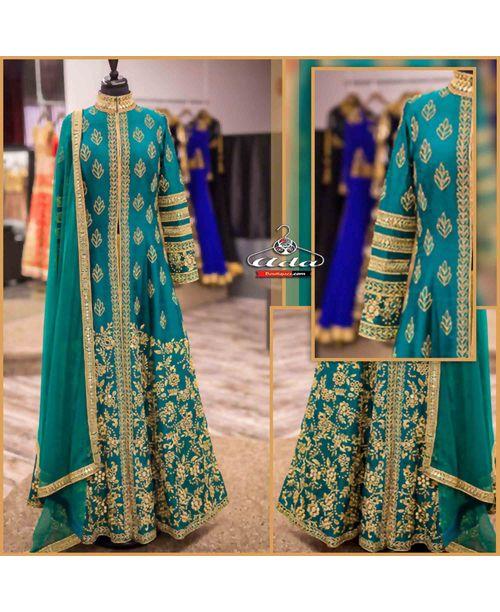 Supreme Quality Stylish Emerald Green Dress