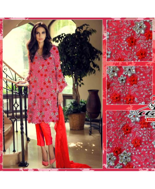 Embroidered Floral Ethnic Dress