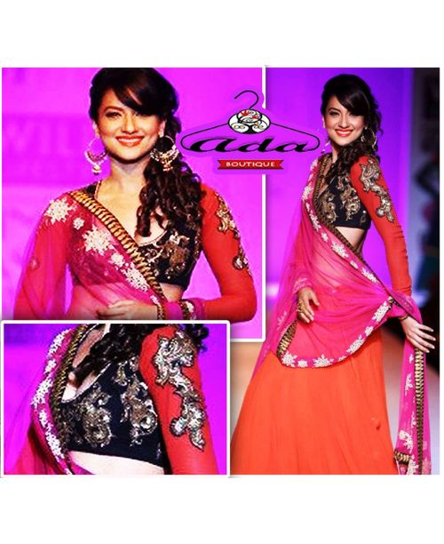 Stylish Gauhar Khan Lehenga