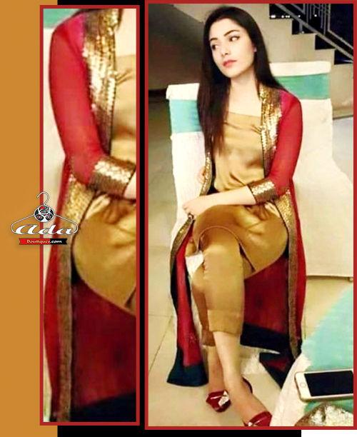 Stylish Golden /Red Dress