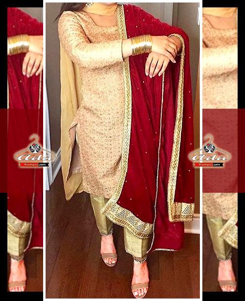 Golden Ethnic Dress