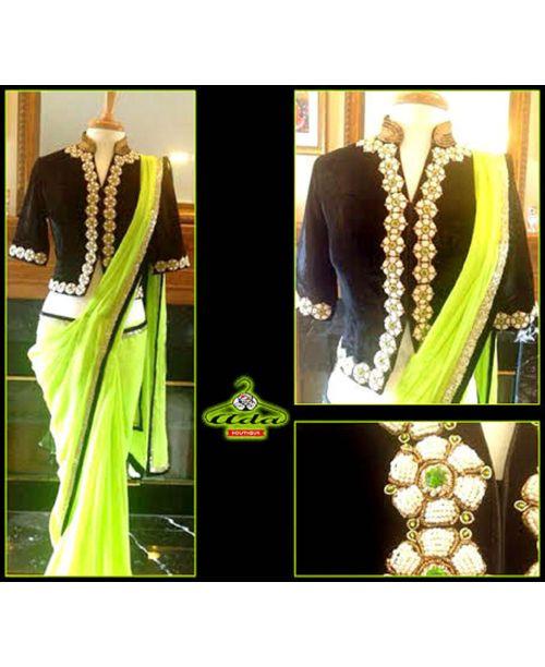 Stylish Green Saree