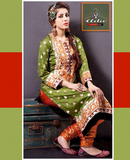 Mehendi Green Dress