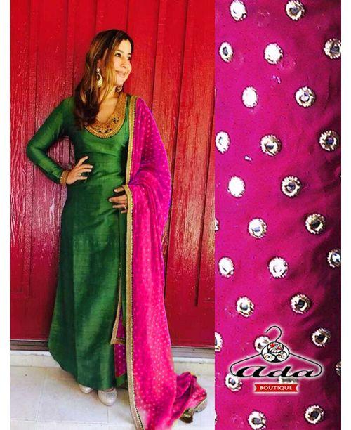 Stylish Green /Pink Dress