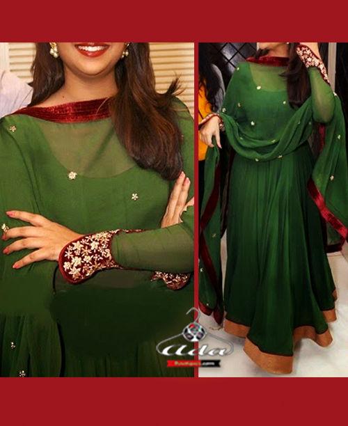 Green/Maroon Anarkali