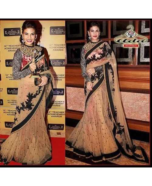 Stylish Jacqualin Fernandis Net Saree