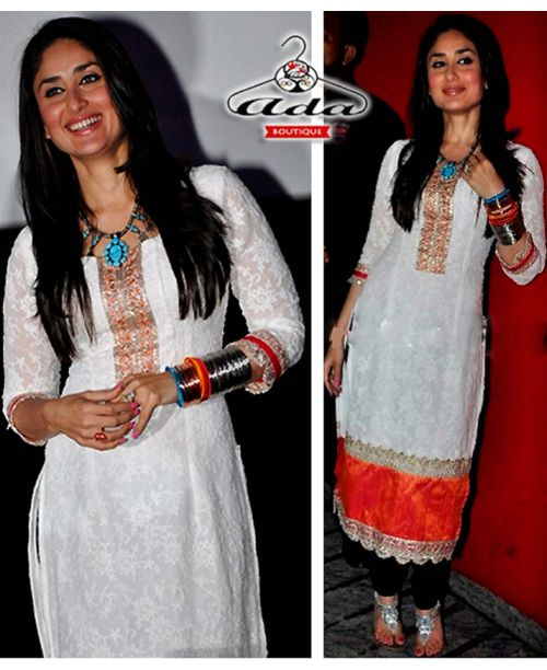 Stylish Kareena White Dress