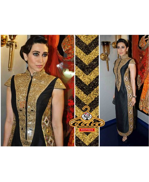 Karishma Royal Black Dress