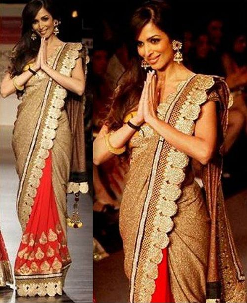 Stylish Malaika Red Saree