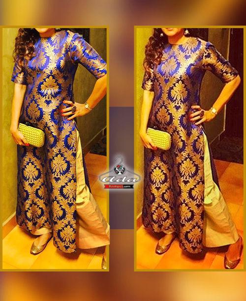 Ethnic Blue/Golden Dress