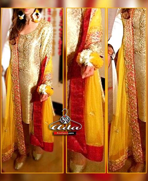 Ethnic Golden Dress