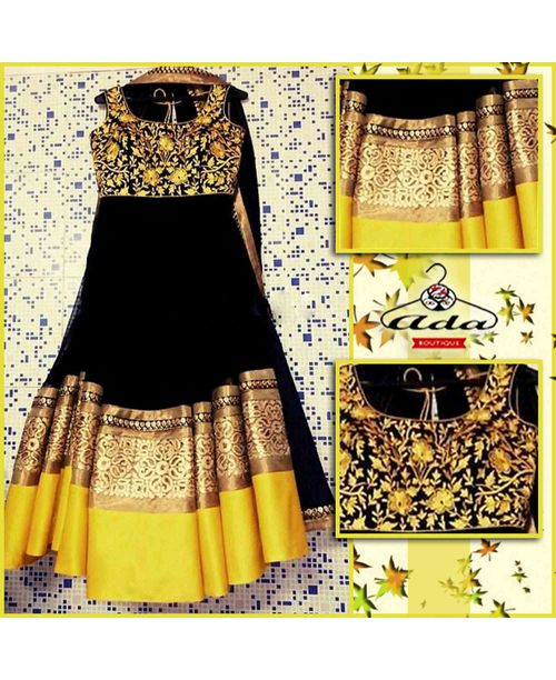 Ethnic Black/Yellow Dress