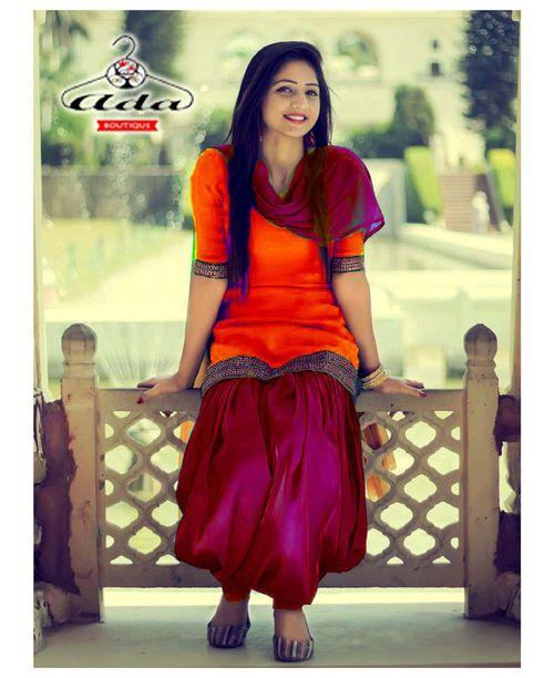 Trendy Orange/Magenta Dress