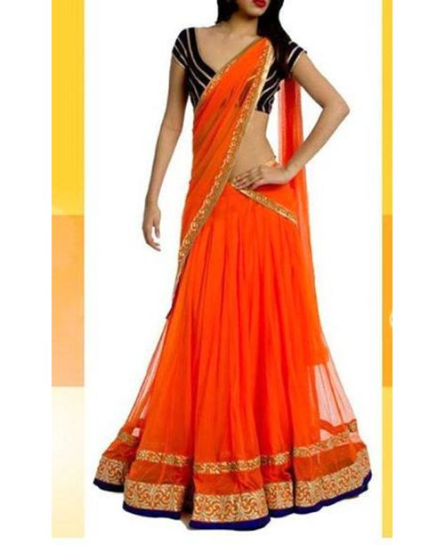 Trendy Orange Lehenga
