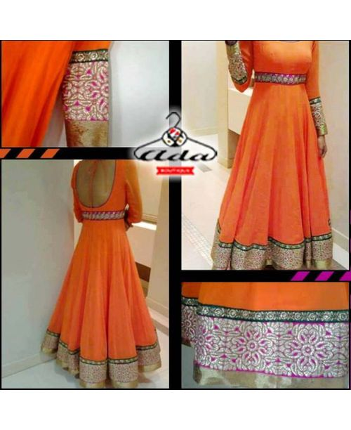 Orange Gown Dress