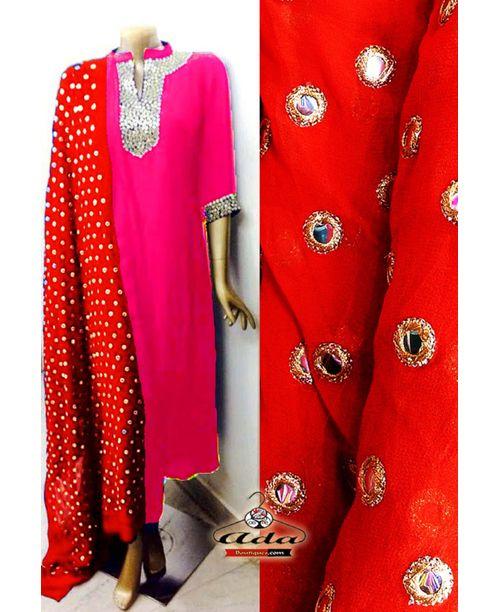 Sizzling Orange/Pink Dress