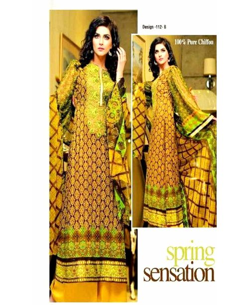 Neon Embroided Pakistani Lawn