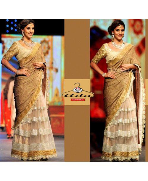 parizad Sizzling Golden Saree