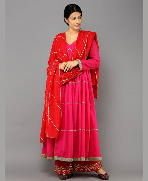 Pink/Red Anarkali Dress