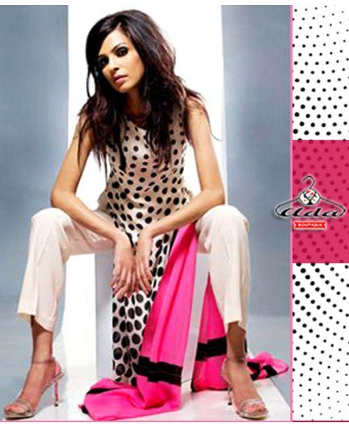 Stylish Polka pink Dress