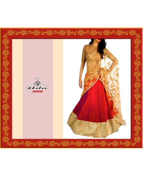 Sizzling Red/Golden Lehenga