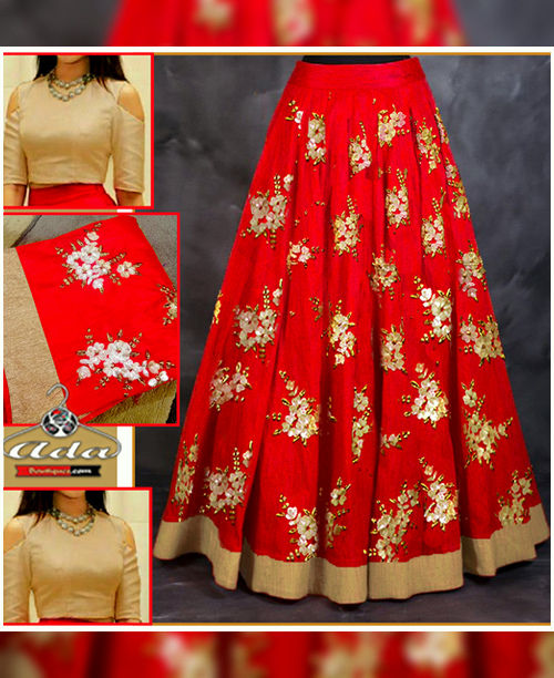 Bridal Skirt Dress With Beautiful Embroidery Work