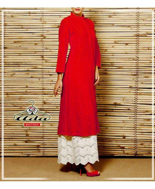 Stylish Red /White Trendy Dress