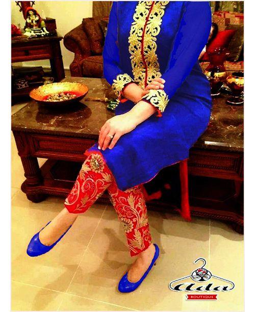 Stylish Royal Blue Dress