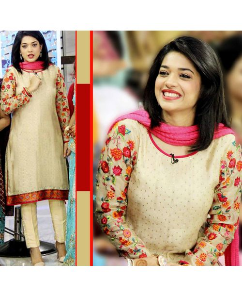 Sanam Jung Beige Dress