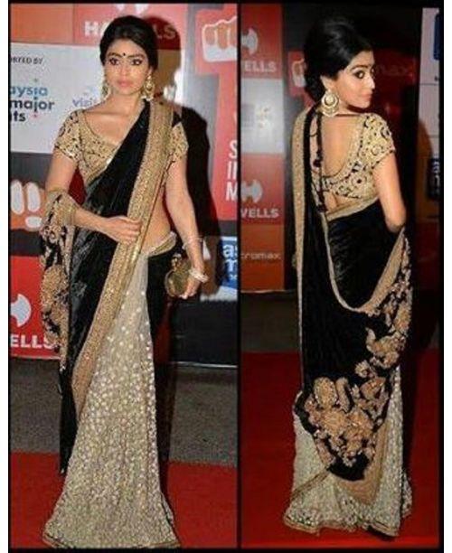 Shreya Black/White Saree