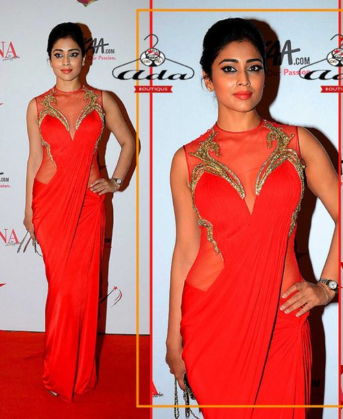 Sizzling Red Shreya Saree