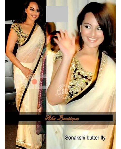 Glamorous Sonakshi Sinha Black Saree