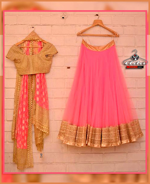 Soothing Pink Lehenga Dress