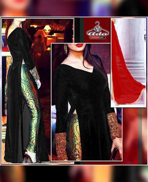 Ethnic Velvet Dress