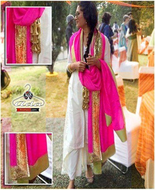 Stylish White/Pink Dress