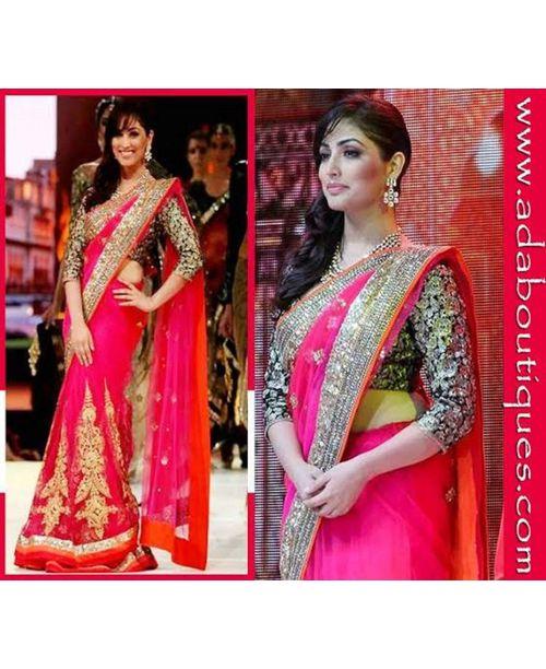 Yamini Gautam Pink Saree