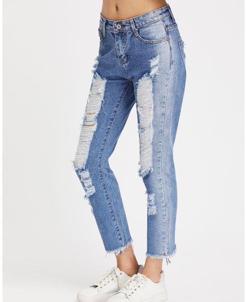 how to cut fray jeans
