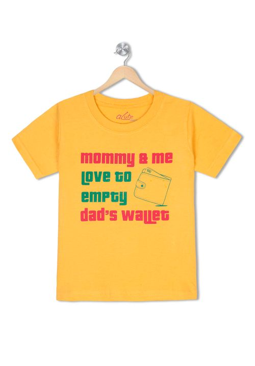 Mom & me love to empty dad's wallet - Organic cotton tee for toddlers