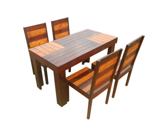 aura 4 seater dining set