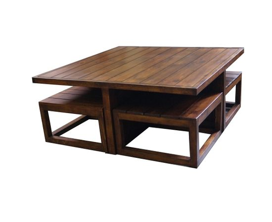 Plus Coffee Table Set With Stools