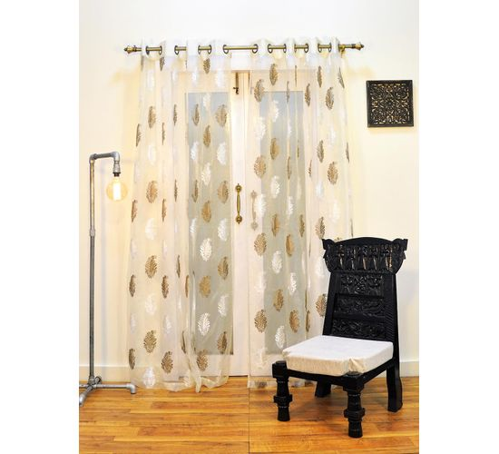 Ariana Sheers Exotic Beige Door Curtain