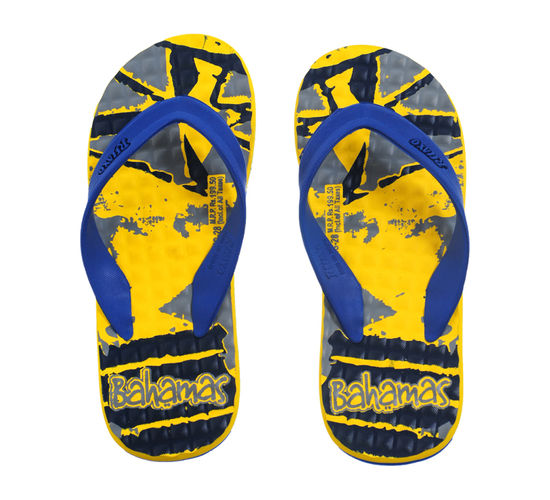 BAHAMAS YELLOW/N.BLUE GENTS CASUALS  SLIPPERS_BHG-28