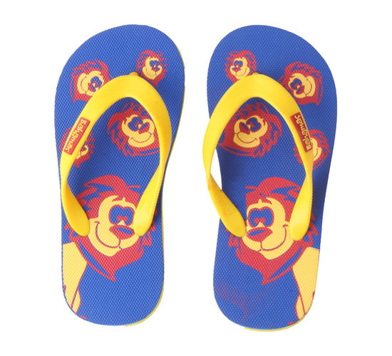 BAHAMAS BLUE/YELLOW KIDS CASUALS  SLIPPERS_BHK-06