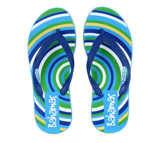 BAHAMAS BLUE/YELLOW LADIES CASUALS  SLIPPERS_BHL-10