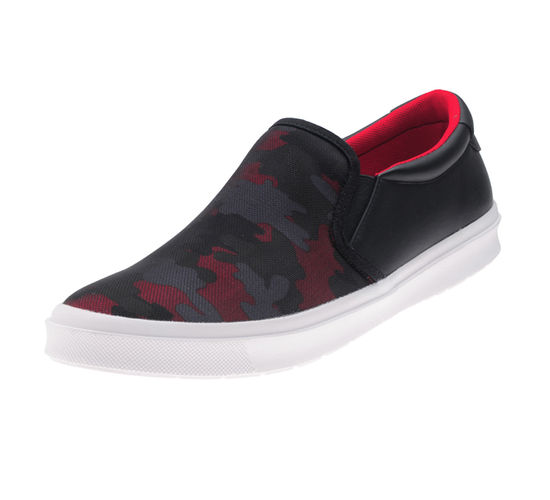 BOSTON RED/BLACK GENTS CASUALS  SHOES_BM-1006