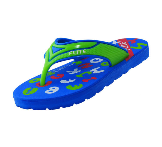 FLITE BLUE/FL.GREEN KIDS HOMEUSE  SLIPPERS_FL KIDS-43
