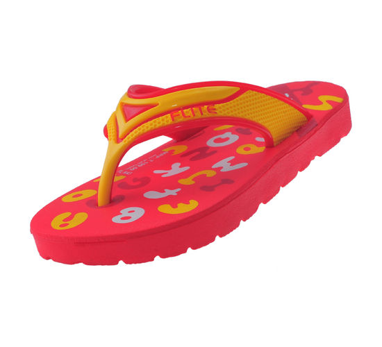 FLITE RED/YELLOW KIDS HOMEUSE  SLIPPERS_FL KIDS-43